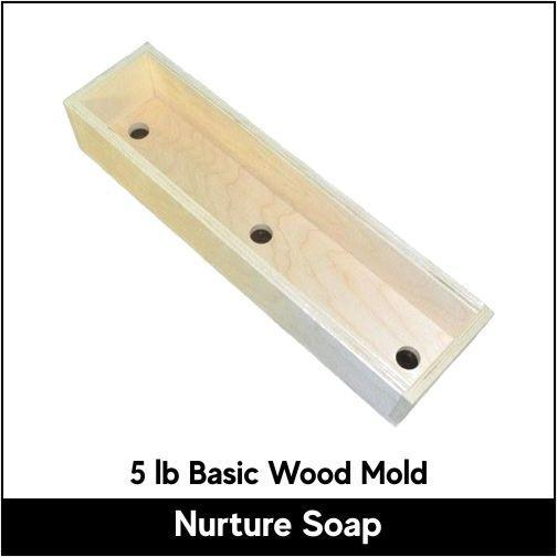 5 lb Basic Wood Mold - Nurture Soap