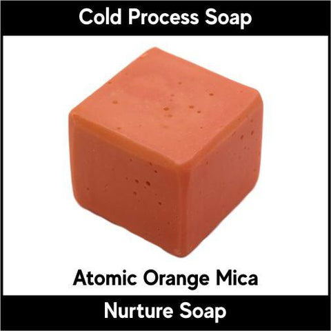 Atomic Orange Crystal Mica Powder - Nurture Soap Inc. - 1