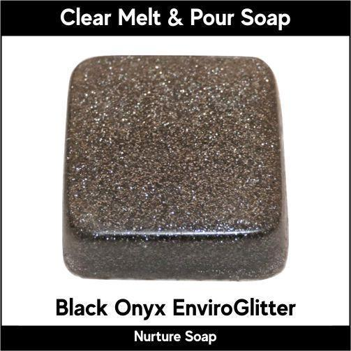 Black Onyx Eco-Friendy EnviroGlitter in MP Soap