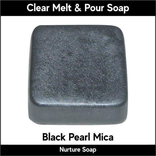 Black Pearl Mica in MP Soap