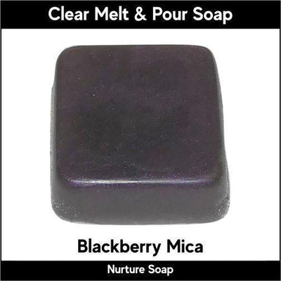 Blackberry Mica in MP Soap