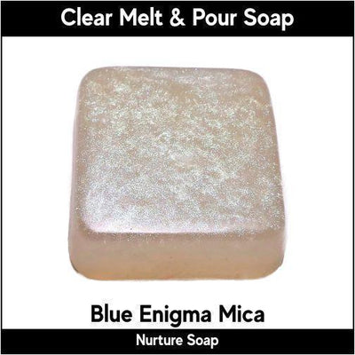 Blue Enigma Mica in MP Soap