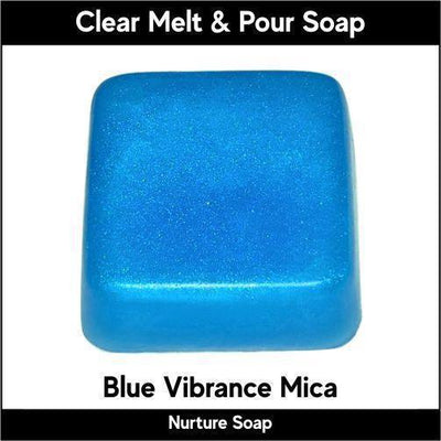 Blue Vibrance Mica in MP Soap