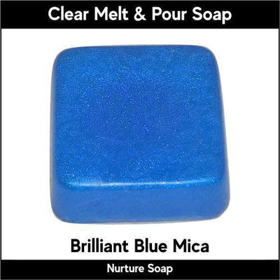 Brilliant Blue Mica in MP Soap