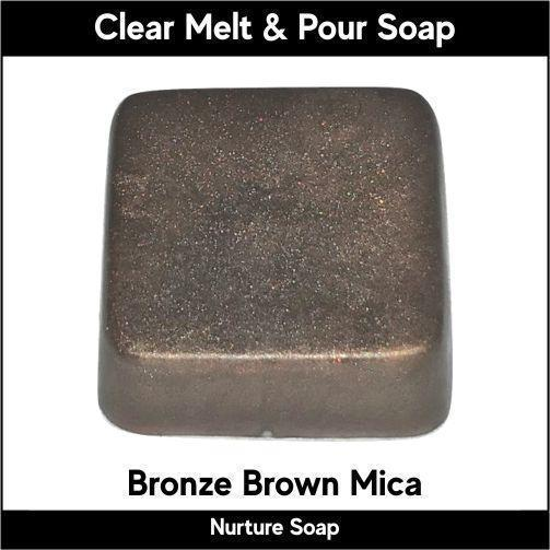 Bronze Brown Mica in MP Soap