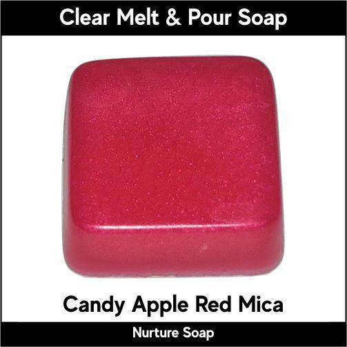 Candy Apple Red Mica in MP Soap