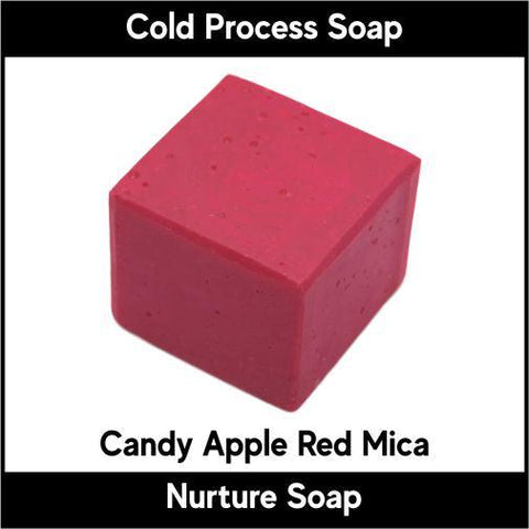 Candy Apple Red Crystal Mica Powder - Nurture Soap Inc. - 1
