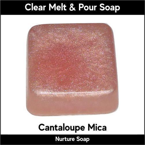 Cantaloupe Mica in MP Soap