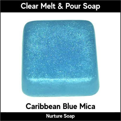 Caribbean Blue Mica in MP Soap