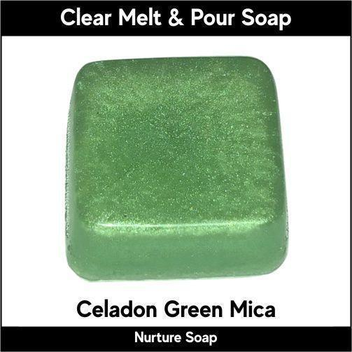 Celadon Green Mica in MP Soap
