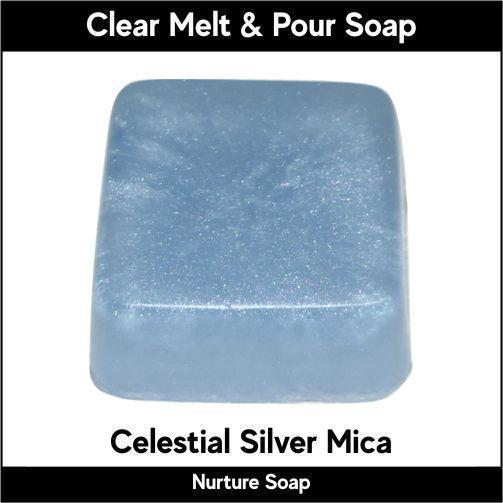 Celestial Silver Mica in MP Soap
