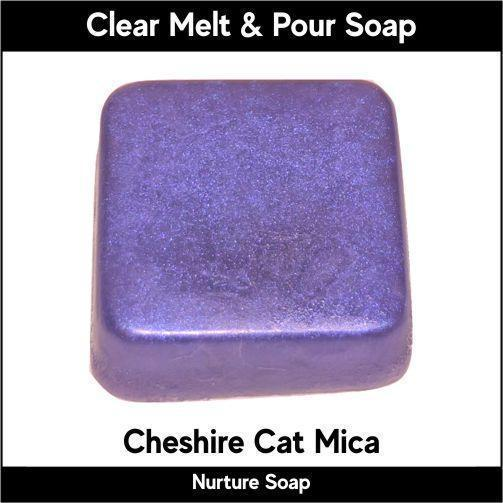 Cheshire Cat Mica in MP Soap