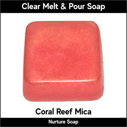 Coral Reef Mica in MP Soap