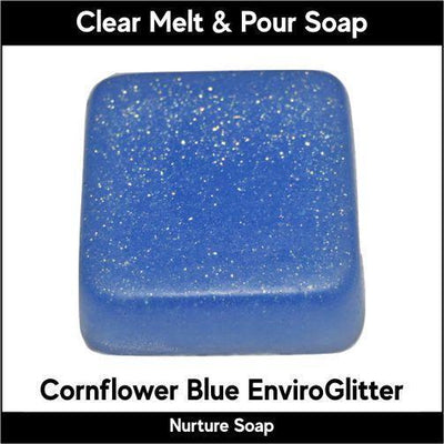Cornflower Blue Eco-Friendy EnviroGlitter in MP Soap