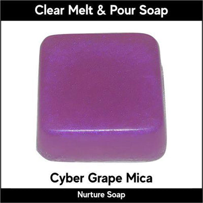 Cyber Grape Mica in MP Soap