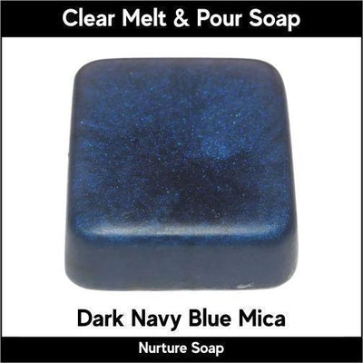 Dark Navy Blue Mica in MP Soap