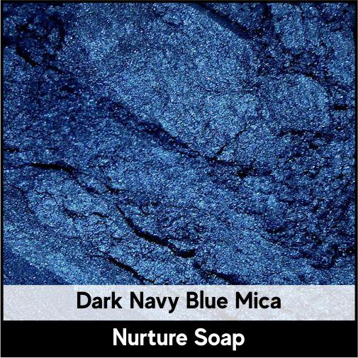 Dark Navy Blue Mica-Nurture Soap Making Supplies