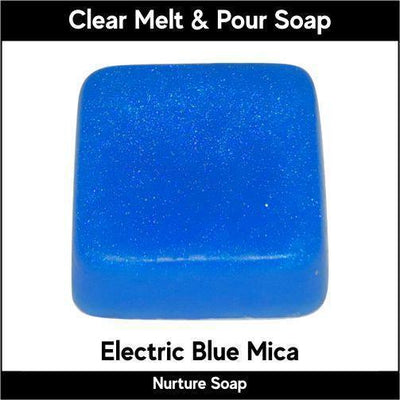 Electric Blue Mica in MP Soap