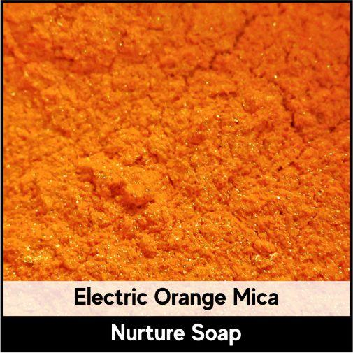Electric Orange Mica-Nurture Soap Making Supplies
