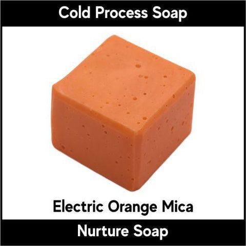 Electric Orange Mica Powder - Nurture Soap Inc. - 2
