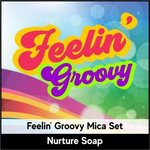 Feelin' Groovy Mica Set-Nurture Soap Making Supplies