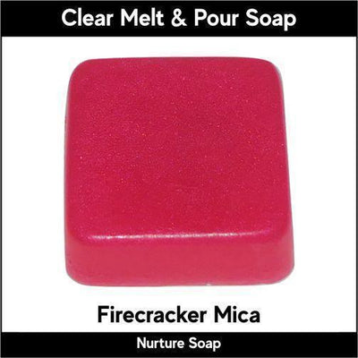 Firecracker Mica in MP Soap