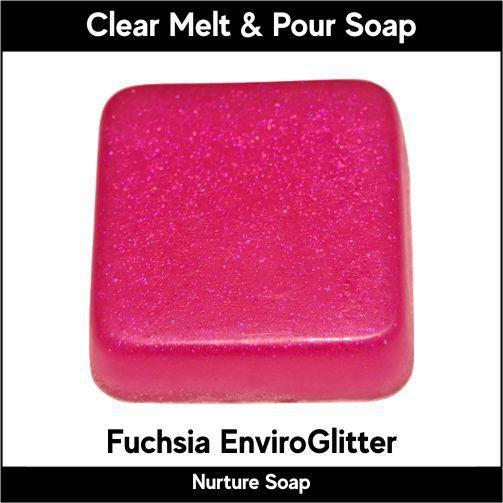 Fuchsia Eco-Friendy EnviroGlitter in MP Soap