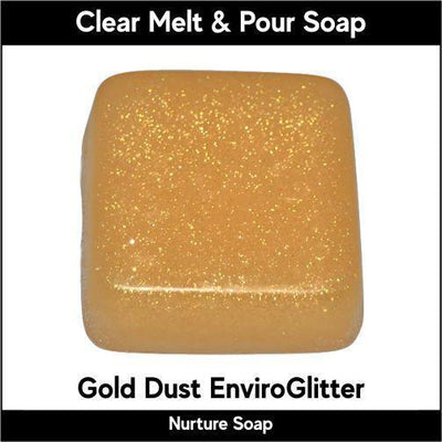 Gold Dust Eco-Friendy EnviroGlitter in MP Soap