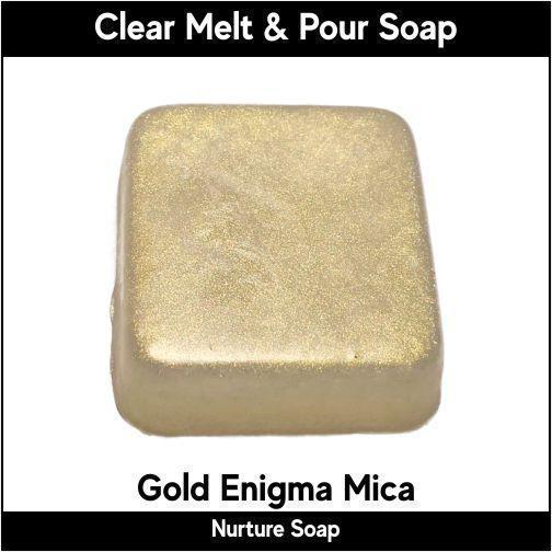 Gold Enigma Mica in MP Soap