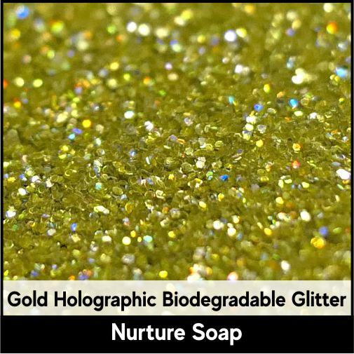 Gold Holographic Biodegradable Glitter