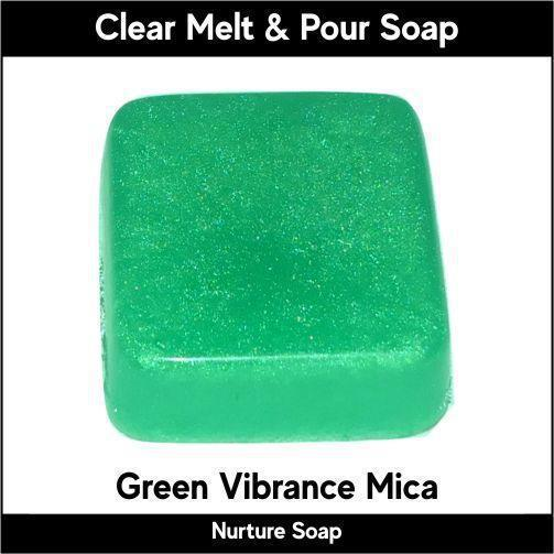 Green Vibrance Mica in MP Soap