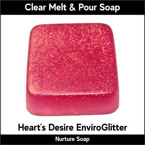 Heart's Desire Eco-Friendy EnviroGlitter in MP Soap