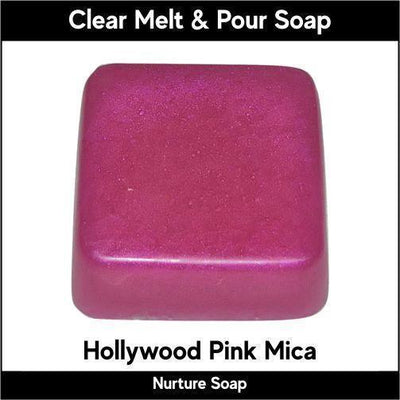 Hollywood Pink Mica in MP Soap