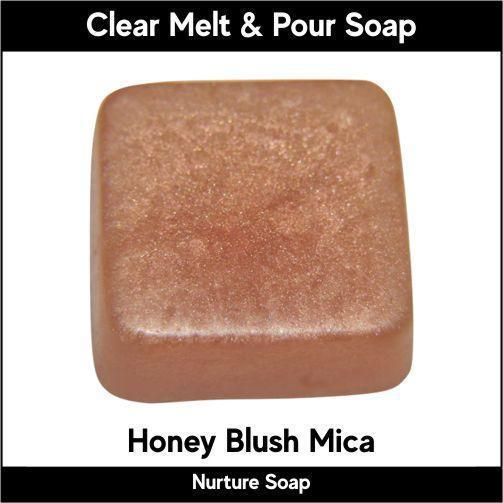 Honey Blush Mica in MP Soap