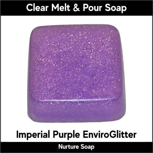 Imperial Purple Eco-Friendy EnviroGlitter in MP Soap