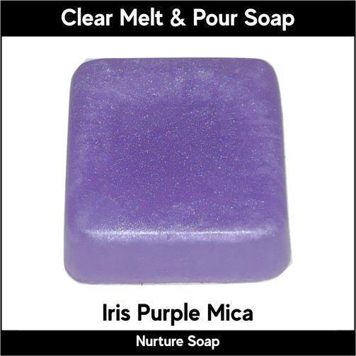 Iris Purple Mica in MP Soap