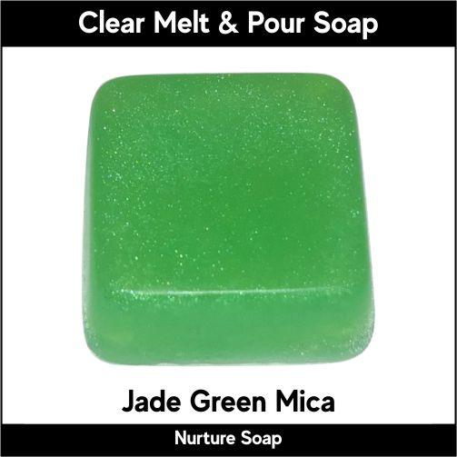 Jade Green Mica in MP Soap