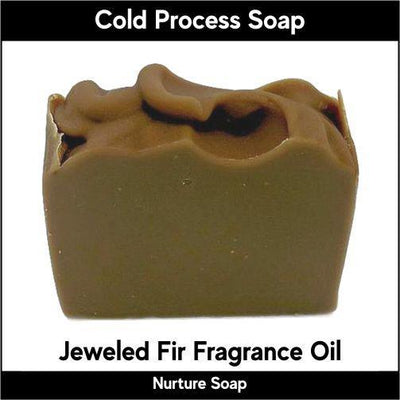 Jeweled Fir in cold process-Nurture Soap