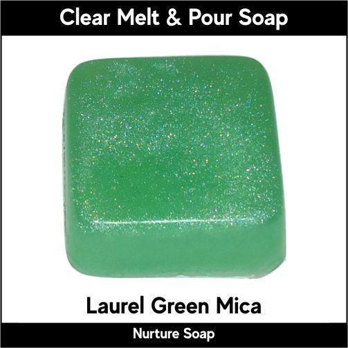 Laurel Green Mica in MP Soap