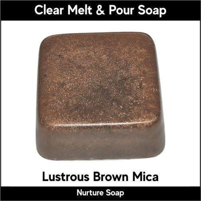 Lustrous Brown Mica in MP Soap