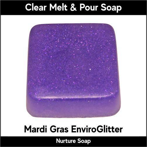 Mardi Gras Eco-Friendy EnviroGlitter in MP Soap