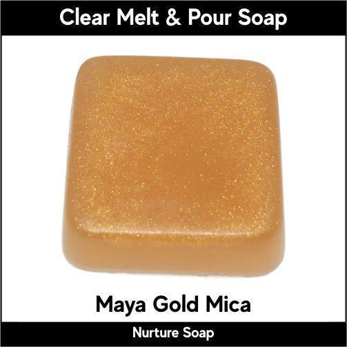 Maya Gold Mica in MP Soap