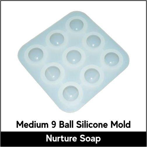 Medium 9 Ball Silicone Mold-Nurture Soap