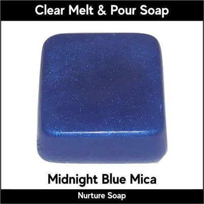 Midnight Blue Mica in MP Soap