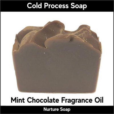 Mint Chocolate in cold process-Nurture Soap