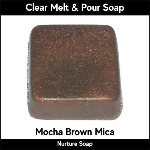Mocha Brown Mica in MP Soap