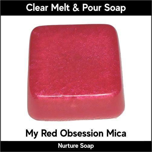 My Red Obsession Mica in MP Soap