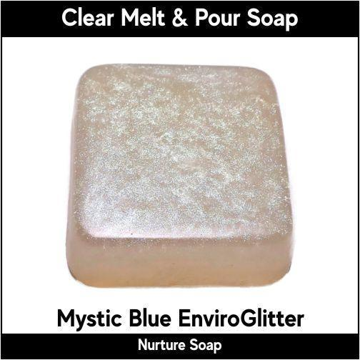 Mystic Blue Eco-Friendy EnviroGlitter in MP Soap