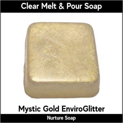 Mystic Gold Eco-Friendy EnviroGlitter in MP Soap