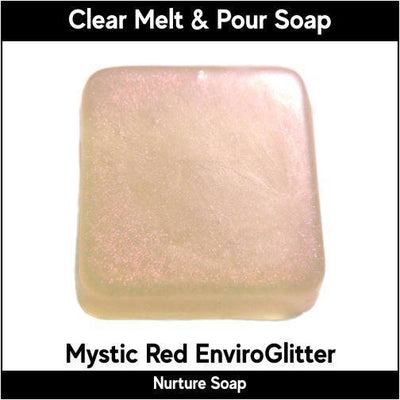 Mystic Red Eco-Friendy EnviroGlitter in MP Soap